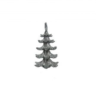 Игрушка новогодняя елка блестящая 14см
