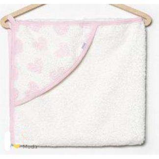 Полотенце махра для новор. 80*80см с капюшоном сердце H 405