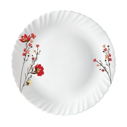 Тарелка плоская D25,5см с рисунком Fluted-Chrys Red