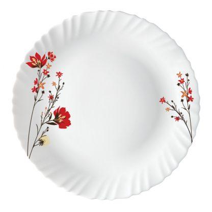 Тарелка плоская D27,5см с рисунком Fluted-Chrys Red