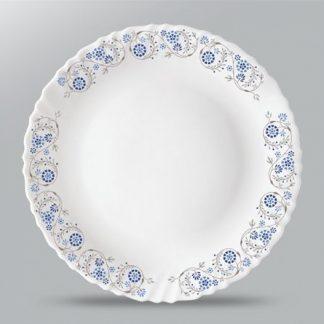 Тарелка плоская D25,5см с рисунком Fluted-Mist