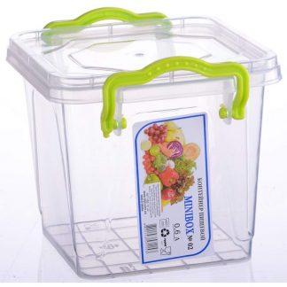 Контейнер пищевой, пластиковый, квадратный 0,6L 11,9*10,6*10 ML-105