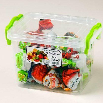 Контейнер пищевой, пластиковый, квадратный 1,1L 16,2*11,2*11,8 P-101