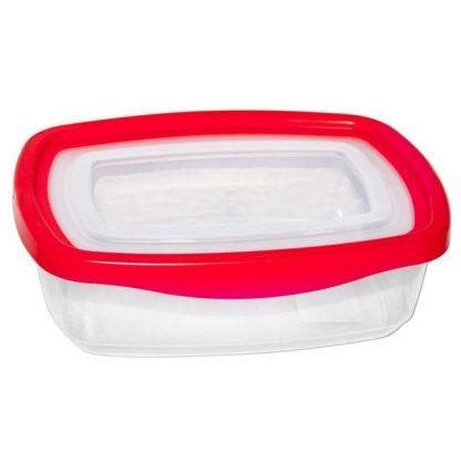 Контейнер пищевой, пластиковый, квадратный 1.1L 19.9*14.3*6.5 K-108