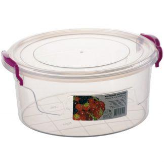 Контейнер пищевой пластиковый круглый 2,1L 18*17*7,5 R-103