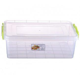 Контейнер пищевой пластиковый квадратный 5,0L №6 30,9*20,6*13,7 L-106