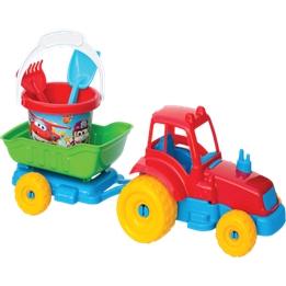 Набор для песочницы трактор 4 предметов Dede Poli