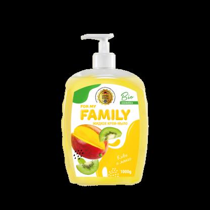 Жидкое крем-мыло Family 1000 мл Киви и манго