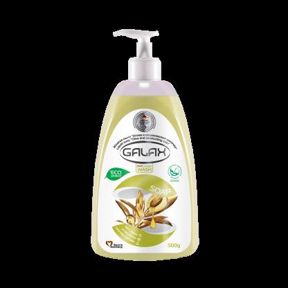 Жидкое мыло Galax 500мл «Олива и увлажняющее молочко»