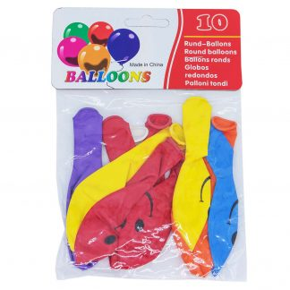 Шарики BALLOONS 10шт смайлики