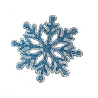 Наклейка новогодняя силиконовая снежинка D10см