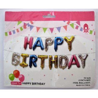 Надпись Happy Birthday