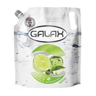 Жидкое мыло Galax 1,5л запаска Aнтибактериальное с Экстрактом Лайма
