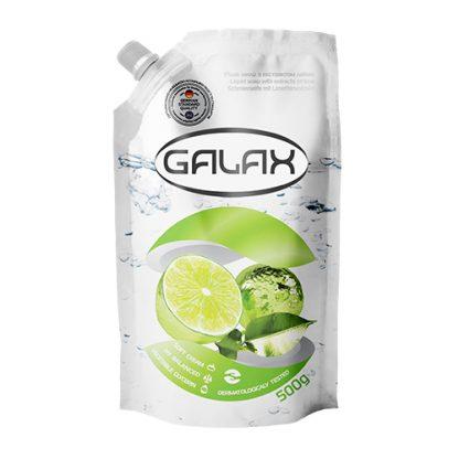 Жидкое мыло Galax 500мл запаска Aнтибактериальное с Экстрактом Лайма