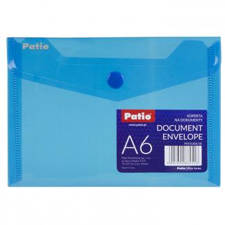 Папка А6 прозрачная голубая 1шт (Patio)