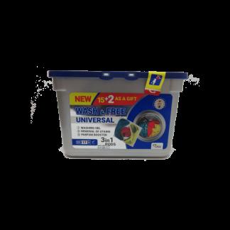 Капсулы-гель для стирки Wash & Free 17шт universal